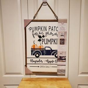 Pumpkin patch sign reviseable